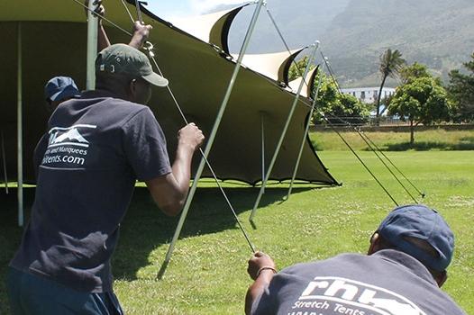 stretch tent rigging