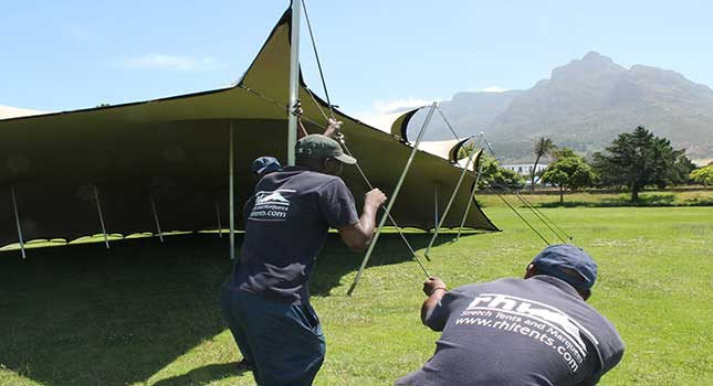Why we love working with stretch tent hiring companies