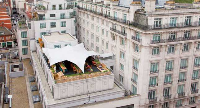 A rooftop cover solution designed by RHI Stretch Tents