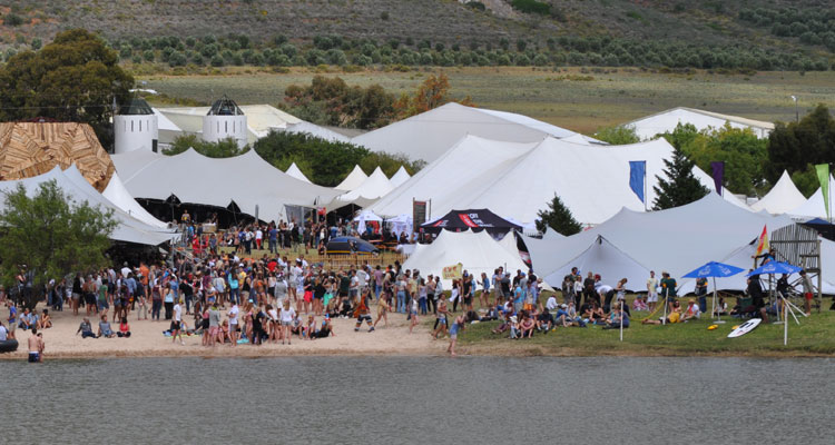 RHI-manufactured tents at Rocking the Daisies 2015