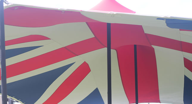 Custom Union Jack Stretch Tent