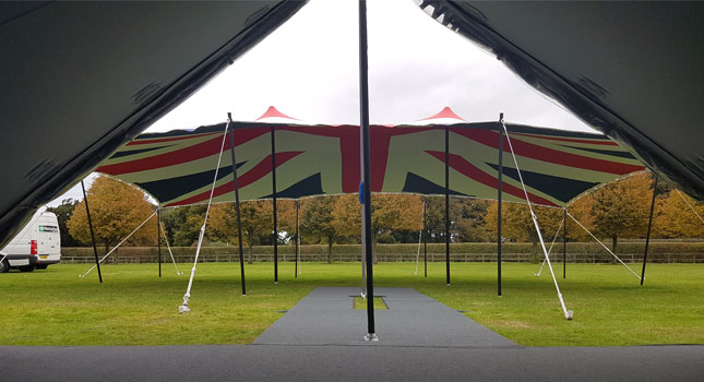 Custom Union Jak Tent & The First Ever Union Jack Stretch Tent: Designed and Manufactured ...