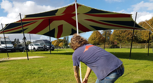 Union Jack Flag Stretch Tent
