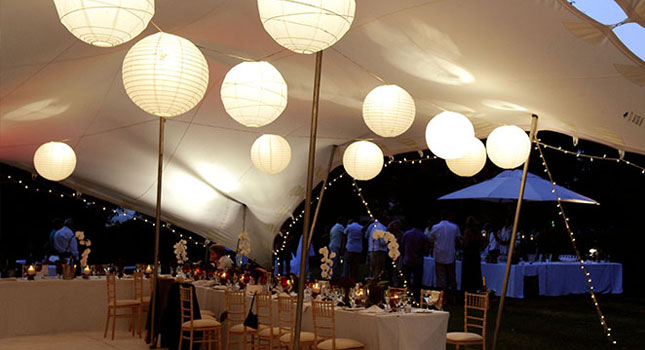 Decoration for wedding tents