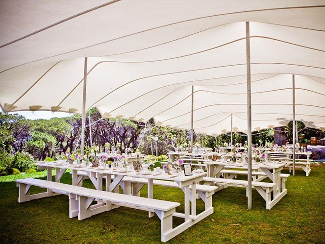 Stretch tent decoration for weddings