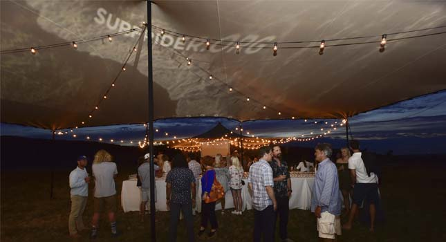 Stretch tent light: Projection