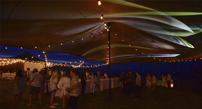 Stretch tent lights: Projection