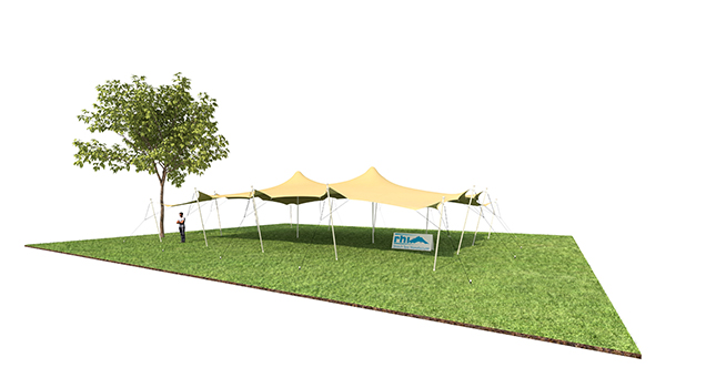 Tent Sizes: Stretch Tent With No Sides Down
