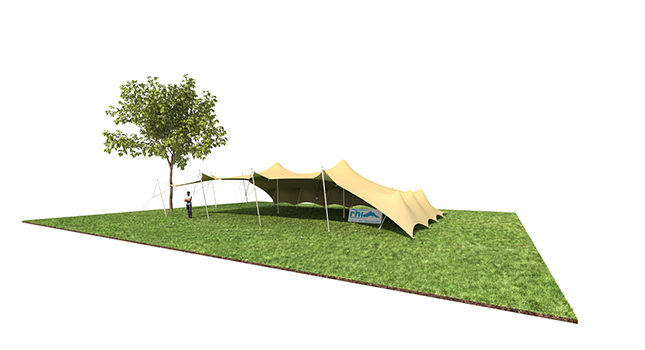 Tent Sizes: Stretch Tent With All Two Sides Down