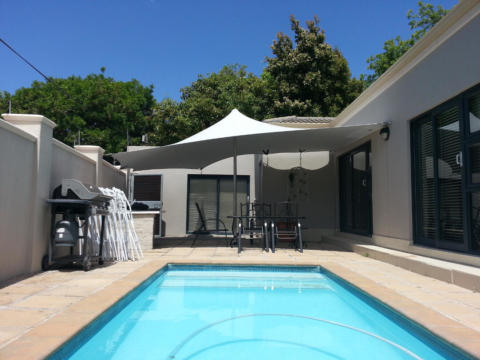 12 CUSTOM STRETCH TENT  POOL SIDE GREY