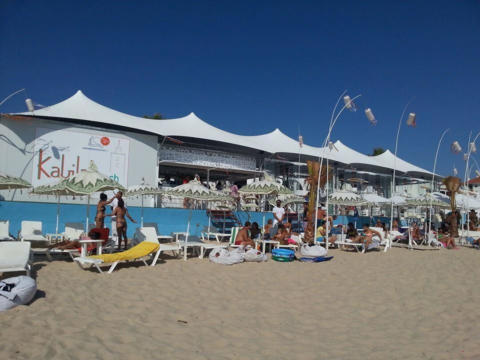24 CUSTOM STRETCH TENT IBIZA BEACHFRONT GREY