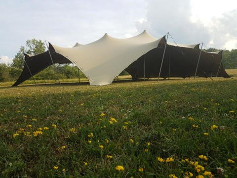 CONCEPT 15X19.5 STRETCH TENT CORNERS DOWN CHINO