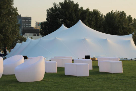 CORPORATE EVENT 10.5X15 STRETCH TENT WHITE