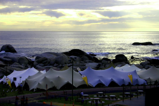 CORPORATE EVENT MULTIPLE TENTS LINKED