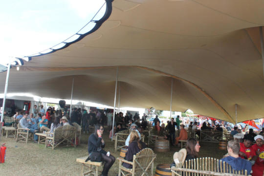 FESTIVAL CATERING TWO 15X21 STREWTCH TENTS LINKED CHINO
